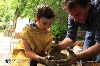 Olarit la roata olarului pentru copii