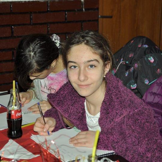 Cu copiii din tabara la pizza